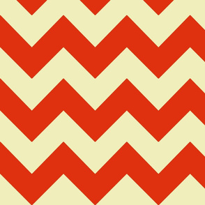 poppy red yellow chevron
