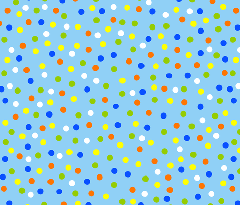 WHAT PLANET ARE YOU FROM? dots 1 fabric by bzbdesigner on Spoonflower - custom fabric