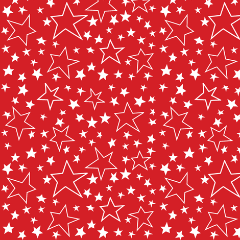 Voting Stars Over Red fabric by bzbdesigner on Spoonflower - custom fabric