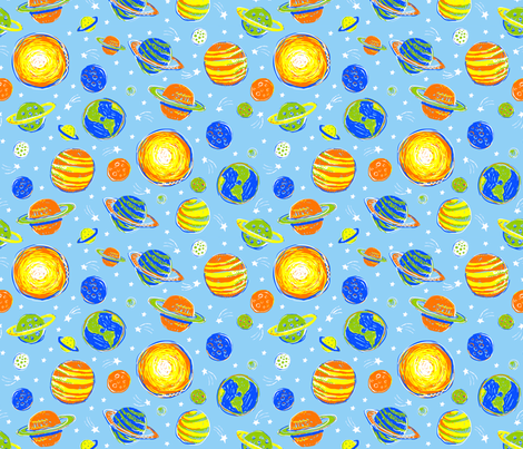 WHAT PLANET ARE YOU FROM? small fabric by bzbdesigner on Spoonflower - custom fabric