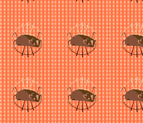 Hippopotamus II  fabric by featheralchemist on Spoonflower - custom fabric