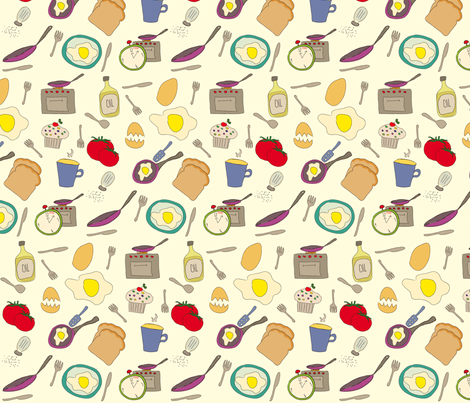 Sunny Side Up fabric by ksenija on Spoonflower - custom fabric
