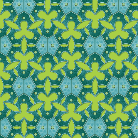 Blue green algae fabric by bippidiiboppidii on Spoonflower - custom fabric