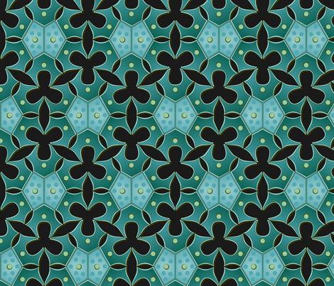 night algae fabric by bippidiiboppidii on Spoonflower - custom fabric