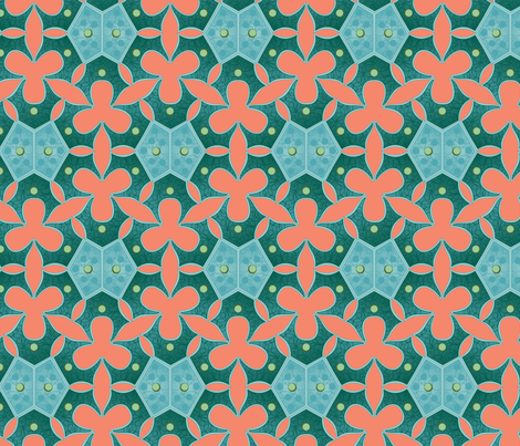 Coral sea bloom fabric by bippidiiboppidii on Spoonflower - custom fabric