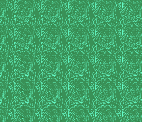 Green Animals fabric by kkennedy on Spoonflower - custom fabric