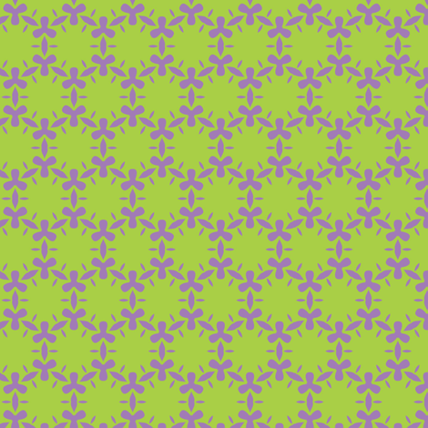 Lavender and lime algae fabric by bippidiiboppidii on Spoonflower - custom fabric