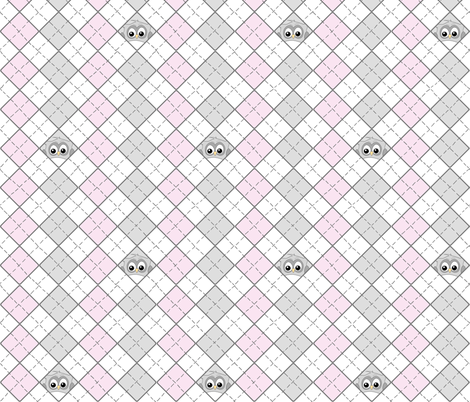 Owlgyle fabric by ilikemeat on Spoonflower - custom fabric