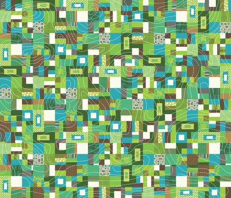 Earth Quilt fabric by cynthiafrenette on Spoonflower - custom fabric