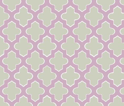 Moroccan in Lavender fabric by fridabarlow on Spoonflower - custom fabric