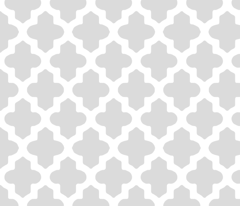 Moroccan Quatrefoil in Gray fabric by fridabarlow on Spoonflower - custom fabric