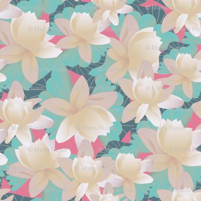 lotus on pink