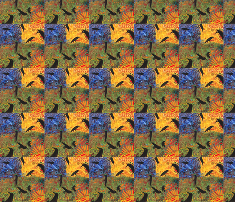 a day in the life of a raven-ed fabric by juliannjones on Spoonflower - custom fabric