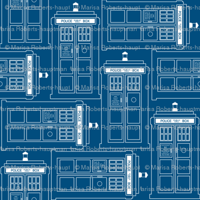 Tardis blueprint tesselation