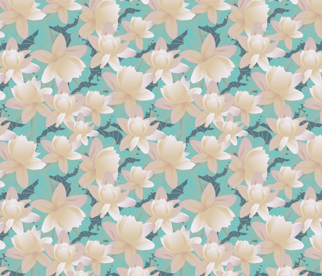lotus fabric by kociara on Spoonflower - custom fabric