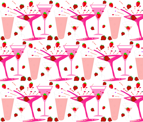 STRAWBERRY DAIQUIRI fabric by bluevelvet on Spoonflower - custom fabric