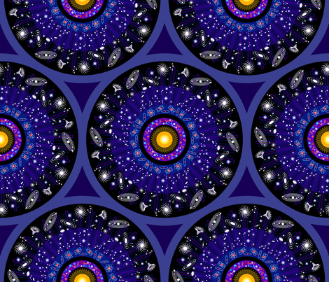 14 billion years ago, it all started with a BIG BANG!!!! fabric by coggon_(roz_robinson) on Spoonflower - custom fabric