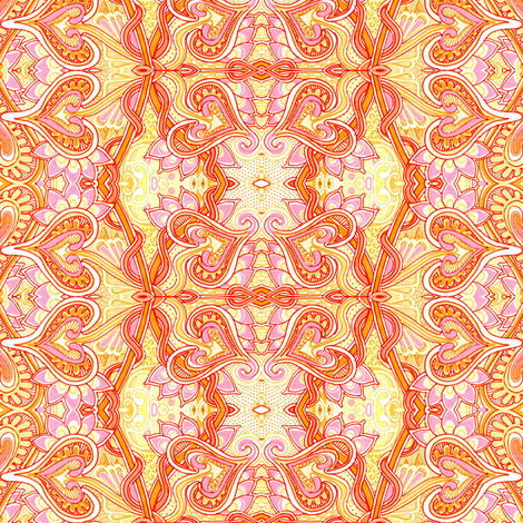 Orange Sherbet Valentine fabric by edsel2084 on Spoonflower - custom fabric