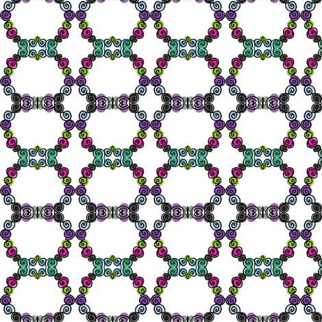 Chains of Button Posies fabric by boris_thumbkin on Spoonflower - custom fabric