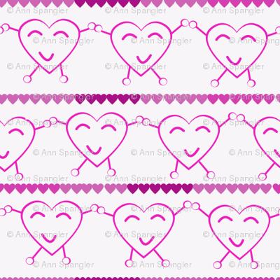 Pink Dancing Hearts