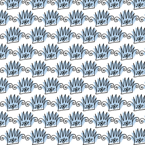 Crowns fabric by boris_thumbkin on Spoonflower - custom fabric