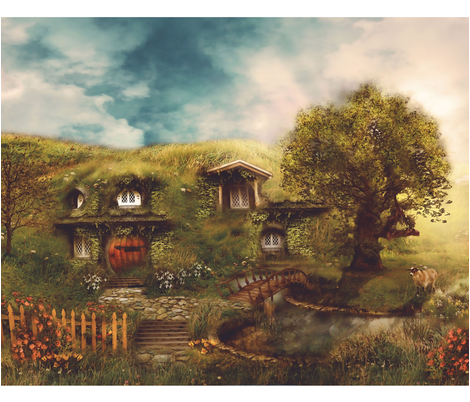 THE SHIRE by Ginger Kelly fabric by thistleandfox on Spoonflower - custom fabric
