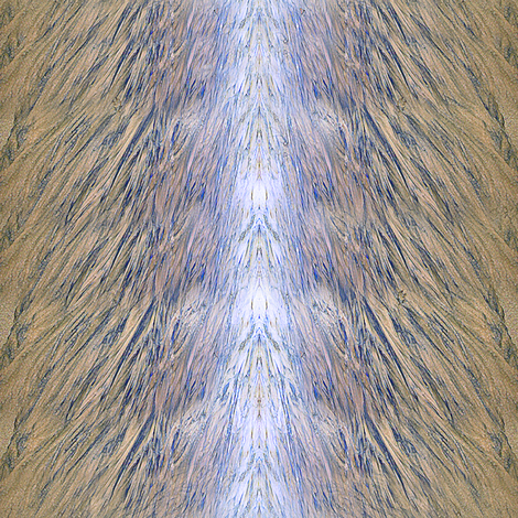 delicate abstracted view of sand and water with sunlight fabric by wordfabric on Spoonflower - custom fabric