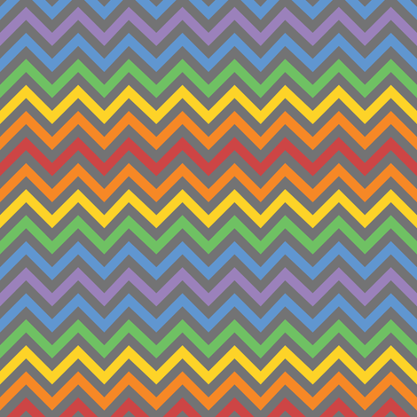 Rainbow Robot Chevron fabric by robyriker on Spoonflower - custom fabric