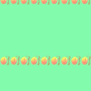 peaches bib stripe
