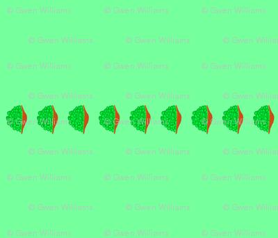 peas bib stripe