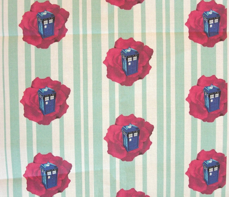 Rdr_who_tardis_maroon_flower_on_blue_white_stripe