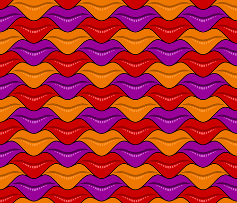 lips 3 - halloween fabric by sef on Spoonflower - custom fabric