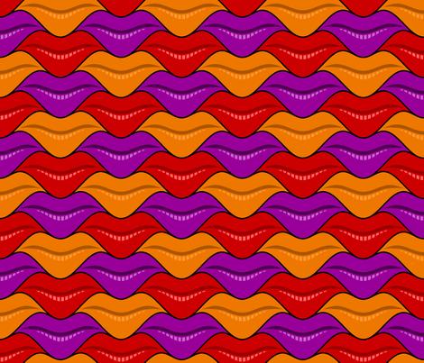 lips 3 - halloween fabric by sef on Spoonflower - custom fabric