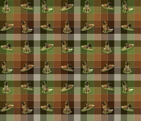 Leonberger Tartan - small fabric by bonnie_phantasm on Spoonflower - custom fabric