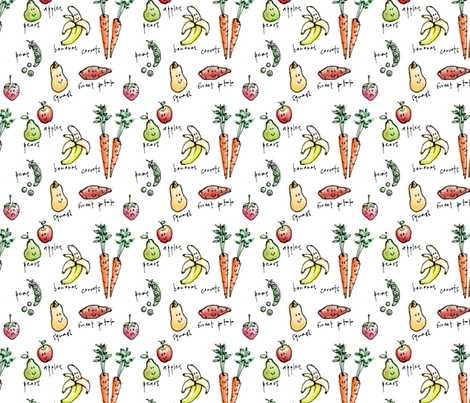 Sad strawberry fabric by elainethebrain on Spoonflower - custom fabric