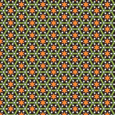 Pariku's Orange Star fabric by siya on Spoonflower - custom fabric