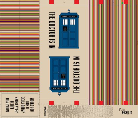 Tardis Tote Bag 4 fabric by risarocksit on Spoonflower - custom fabric