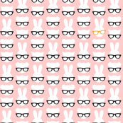 Animals with glasses - pink