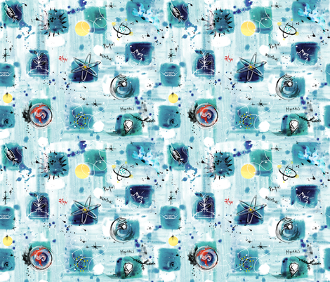 Earth Science fabric by sandie_tee on Spoonflower - custom fabric