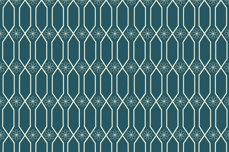 fall_cream_trellis fabric by bexcaliber on Spoonflower - custom fabric
