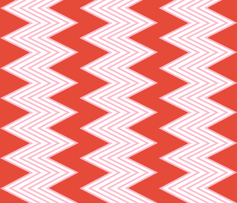 Mango Zig-Zag fabric by fable_design on Spoonflower - custom fabric