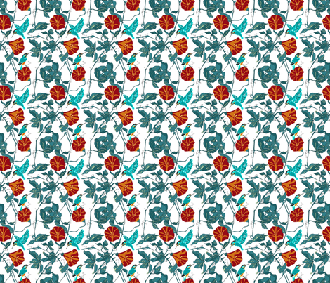 Kingfisher_Fin fabric by mj_designs on Spoonflower - custom fabric