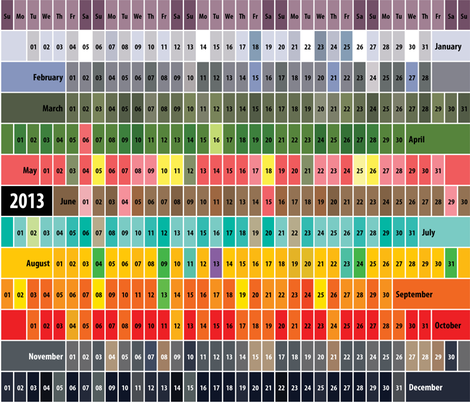 2013 Calendar fabric by chris on Spoonflower - custom fabric