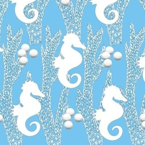 Blue Seahorse