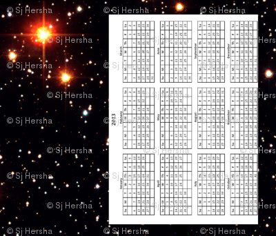 Planetary Host Star Tea Towel 2013 Calendar