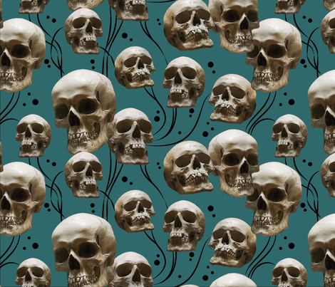 Skull Vine fabric by giantpeanut on Spoonflower - custom fabric