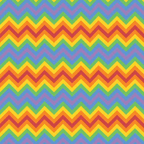 Rainbow Chevron fabric by robyriker on Spoonflower - custom fabric