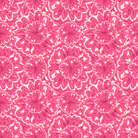 tie-died_jonquils_-_pink_sorbet fabric by glimmericks on Spoonflower - custom fabric