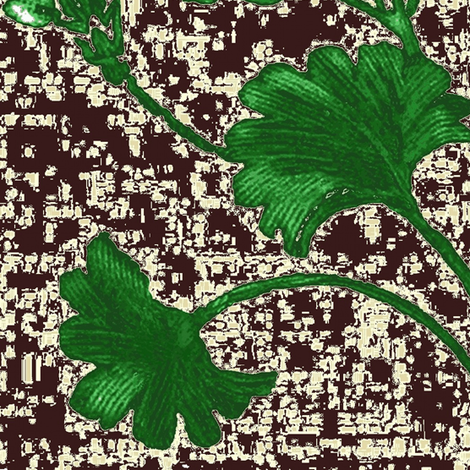 gingko_jasmine_brown fabric by paragonstudios on Spoonflower - custom fabric