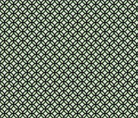 circles diamonds moss green fabric by mojiarts on Spoonflower - custom fabric